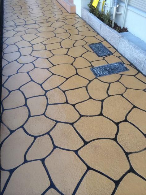 雨に打たれたコンクリートの直し