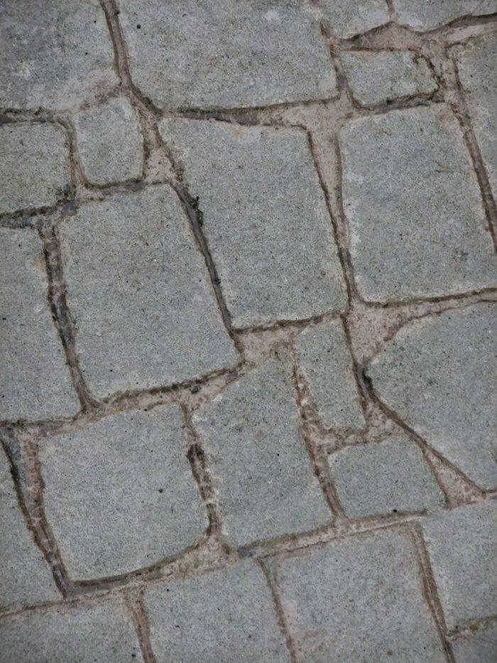 スタンプコンクリート劣化