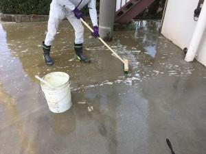 コンクリートの洗浄