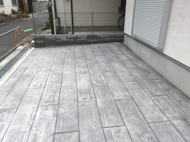 スタンプコンクリート 施工
