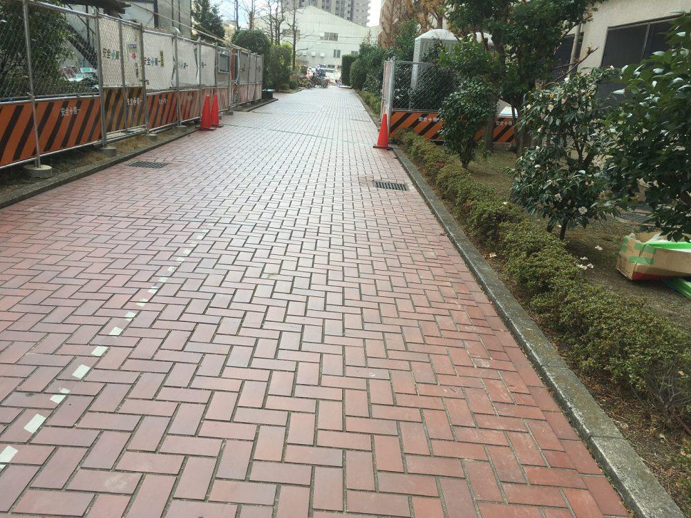 自然石樹脂舗装 施工前