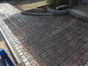 スタンプコンクリート施工