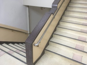 階段の人造研ぎ出し