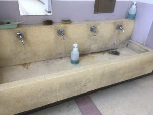 手洗い場の人造研ぎ出し