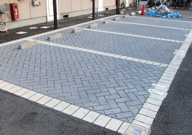 アスファルト床駐車場施工