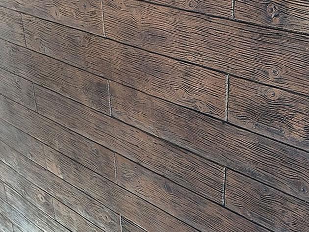 枕木・木目調の塗り壁 グレイン07